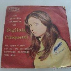 Discos de vinilo: GIGLIOLA CINQUETTI - OS GRANDES SUCESSOS DE - DIO, COME TI AMO + 3 EP 1968. Lote 41473486