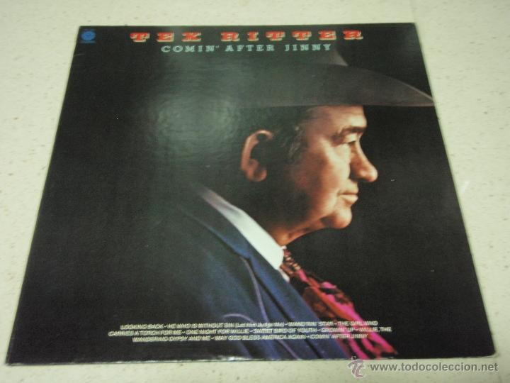 TEX RITTER – COMIN' AFTER JINNY USA 1976 CAPITOL RECORDS (Música - Discos - LP Vinilo - Country y Folk)