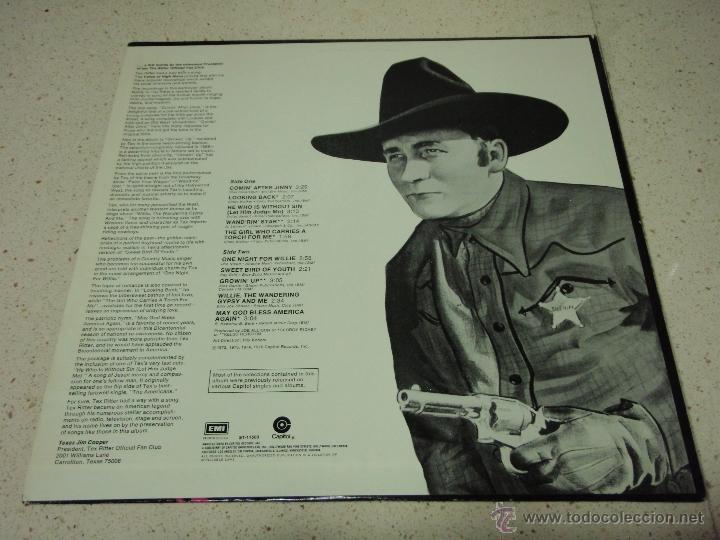 Discos de vinilo: Tex Ritter – Comin After Jinny USA 1976 Capitol Records - Foto 2 - 41479988