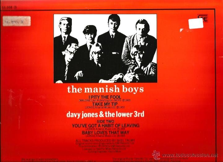 Discos de vinilo: MAXI DAVID BOWIE ( THE MANISH BOYS / DAVY JONES & THE LOWER 3rd - Foto 2 - 41480043