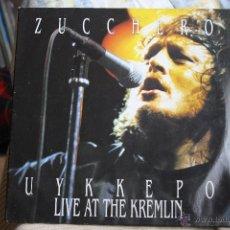 Discos de vinilo: ZUCCHERO LIVE AT THE KREMLIN, PORTADA ABIERTA, DOBLE LP, ITALY. Lote 41482475