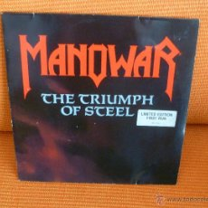 Discos de vinilo: VINILO MANOWAR LP THE TRIUMPH OF STEELE. Lote 41489107
