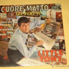 Discos de vinilo: LITTLE TONY - ED. FRANCESA - SAN REMO 67 - 4 CANCIONES. Lote 41493237