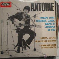 Discos de vinilo: ANTOINE EP - LOLITA,LOLITA - VOGUE. Lote 41493299