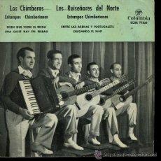 Discos de vinilo: LOS CHIMBEROS / LOS RUISEÑORES DEL NORTE - DISEN QUE VIENE EL REINA / UNA CALLE HAY EN BILBAO EP1959. Lote 41506306