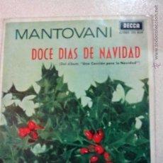 Discos de vinilo: MANTOVANI. DOCE DIAS DE NAVIDAD. 1963. OFERTAS CON OTROS LOTES. Lote 41506370