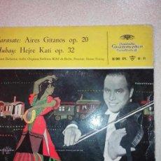 Discos de vinilo: HELMUT ZACHARIAS. SARASATE. HUBAY. DEUTSCHE GRAMOPHON 1959. OFERTA CON OTROS LOTES. Lote 41508338