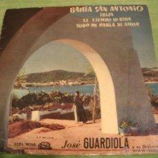 Discos de vinilo: JOSE GUARDIOLA - BAHIA DE SAN ANTONIO - VINILO COLOR AZUL - MUY RARO. Lote 41516658
