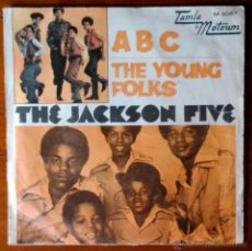 Discos de vinilo: THE JACKSON FIVE 5 - ABC, THE YOUNG FOLKS - SINGLE EDICIÓN ORIGINAL ESPAÑA. Lote 41525803