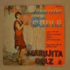Discos de vinilo: MARUJITA DIAZ. ...Y DESPUES DEL CUPLE. HISPAVOX 1959.. Lote 41525937