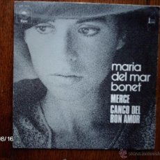 Discos de vinilo: MARIA DEL MAR BONET - MERCE + CANCO (CANÇO) DEL BON AMOR - EDICIÓN FRANCESA . Lote 41526299
