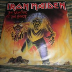 Discos de vinilo: IRON MAIDEN - THE NUMBER OF THE BEAST SINGLE 7 INCH - ORIGINAL INGLES - EMI RECORDS 1982 -. Lote 41527816