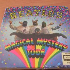 Discos de vinilo: THE BEATLES (MAGICAL MYSTERY TOUR ) DOBLE EP ESPAÑA 1967 (EX+/EX+) 1º PRESS BLACK LABEL (EP9). Lote 41532560
