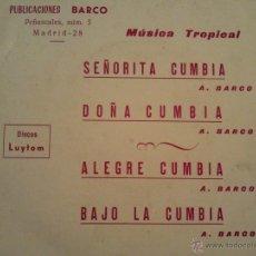 Discos de vinilo: BARCO Y SU RITMO - SEÑORITA CUMBIA - EP 1973 LUYTOM PROMO. Lote 41533620