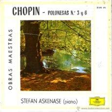 Discos de vinilo: SINGLE , CHOPIN - POLONESAS N 3 Y 6. Lote 41553385