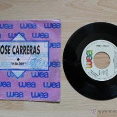 Discos de vinilo: JOSE CARRERAS MEMORY TELL MY ON A SUNDAY DISCO PROMOCIONAL. Lote 41553524
