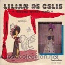 Discos de vinilo: LILIAN DE CELIS LA CRUZ DE GUERRA/AMOR DE MUÑECOS (COLUMBIA 1958). Lote 41554737