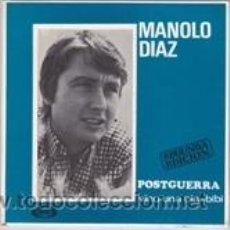 Discos de vinilo: MANOLO DIAZ POSTGUERRA/VINO UNA OLA/BIBI (SONOPLAY 1967). Lote 41555330