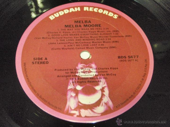 Discos de vinilo: MELBA MOORE ( MELBA ) NEW YORK-USA 1976 LP33 BUDDAH RECORDS - Foto 6 - 41556135
