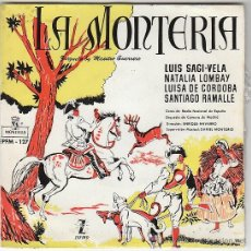 Discos de vinilo: MAESTRO GUERRERO, LA MONTERIA. ZARZUELA. LUIS SAGI-VELA Y OTROS, ZAFIRO, 1959. Lote 41556955