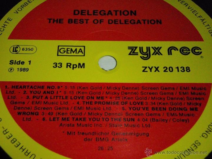 Discos de vinilo: DELEGATION - THE BEST OF DELEGATION 1989 - GERMANY LP ZYX RECORDS - Foto 3 - 41557131