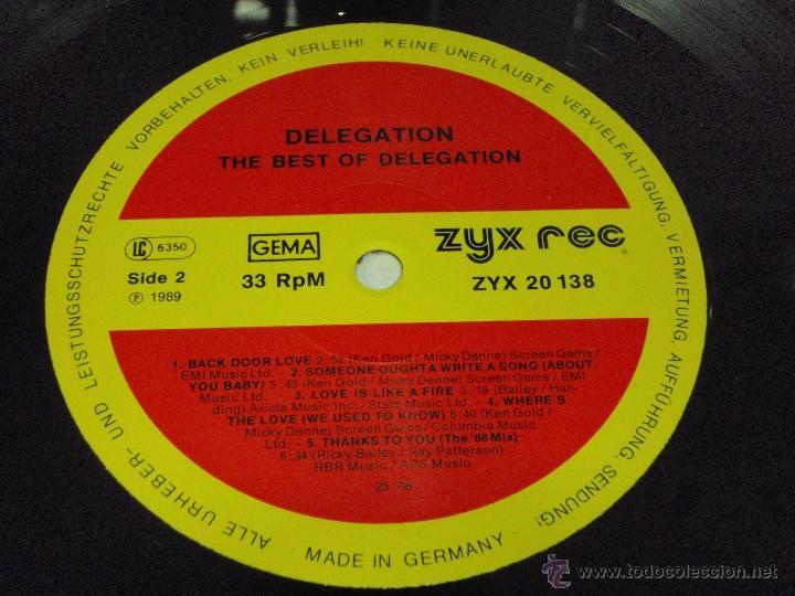 Discos de vinilo: DELEGATION - THE BEST OF DELEGATION 1989 - GERMANY LP ZYX RECORDS - Foto 5 - 41557131