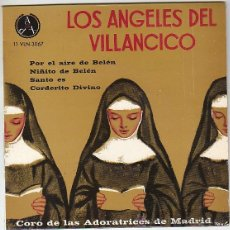 Discos de vinilo: LOS ANGELES DEL VILLANCICO. SINGLE DEL SELLO PAX DEL AÑO 1965 (VER CONTENIDO). Lote 41557317