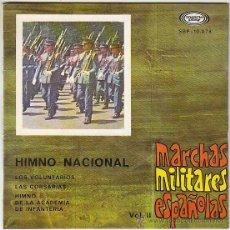 Discos de vinilo: MARCHAS MILITARES ESPAÑOLAS, SINGLE EDITADO POR MOVIEPLAY EN 1967(VER CONTENIDO). Lote 41557582