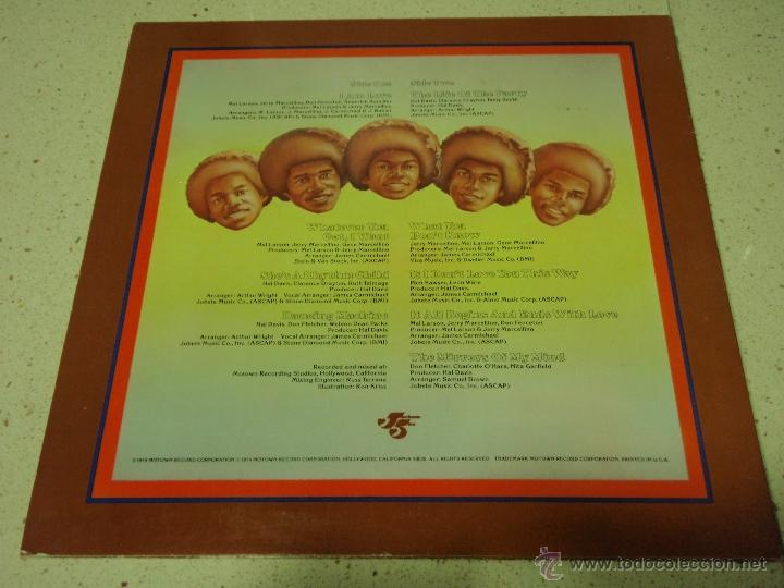 Discos de vinilo: THE JACKSON 5 - DANCING MACHINE CALIFORNIA-USA 1974 LP MOTOWN RECORDS - Foto 2 - 41559670