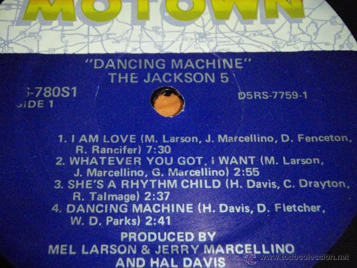 Discos de vinilo: THE JACKSON 5 - DANCING MACHINE CALIFORNIA-USA 1974 LP MOTOWN RECORDS - Foto 3 - 41559670