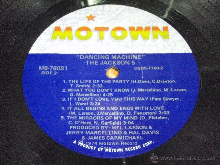 Discos de vinilo: THE JACKSON 5 - DANCING MACHINE CALIFORNIA-USA 1974 LP MOTOWN RECORDS - Foto 5 - 41559670