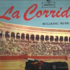 Discos de vinilo: LP BANDA DE AVIACION ESPAÑOLA & ORQUESTA MONTILLA: LA CORRIDA ( EDITADO EN USA) . Lote 41560880