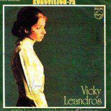 Discos de vinilo: VICKY LEANDROS - APRES TOI + LA POUPEE LE PRINCE ET LA MAISON SINGLE VINILO 1972 SPAIN EUROVISION. Lote 221891818