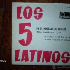 Discos de vinilo: LOS 5 LATINOS - EN LA MONTAÑA DE IMITTOS + 3 . Lote 41574515