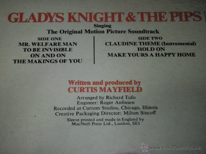 Discos de vinilo: GLADYS KNIGHT & THE PIPS - CLAUDINE ENGLAND-1974 LP BUDDAH RECORDS - Foto 3 - 41578829