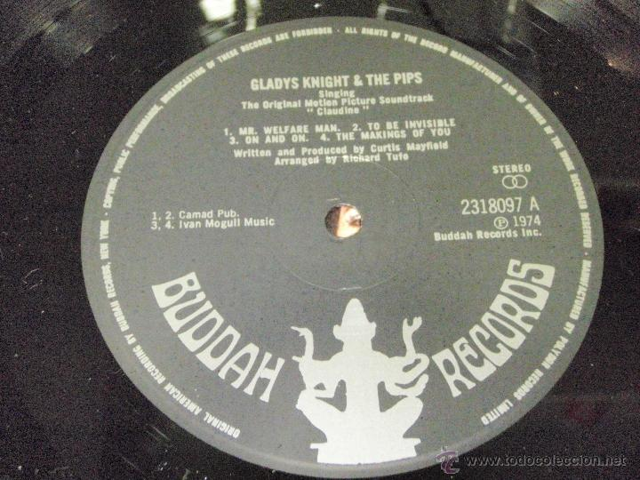 Discos de vinilo: GLADYS KNIGHT & THE PIPS - CLAUDINE ENGLAND-1974 LP BUDDAH RECORDS - Foto 4 - 41578829