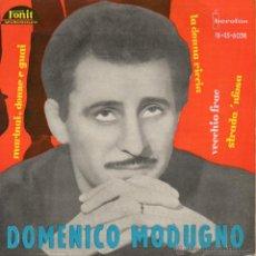 Discos de vinilo: DOMENICO MODUGNO, EP, VECCHIO FRAC + 3, AÑO 1962. Lote 41585621