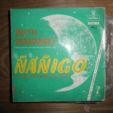Discos de vinilo: RUTH FERNANDEZ. VOL II. ÑAÑIGO, EL ESPIRITU AFRO-CUBANO DE LA MUSICA. EP. ZAFIRO-MONTILLA (#). Lote 152181222