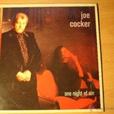 Discos de vinilo: JOE COCKER, ONE NIGHT OF SIN, CAPITOL RECORDS, 89, SPAIN, LP. Lote 41596173