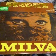 Discos de vinilo: MILVA LP SERIE ETIQUETA VERDE DISCO VINILO . Lote 41605306