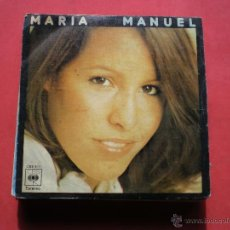 Disques de vinyle: MARIA MANUEL + TE IRAS AMOR SINGLE CBS PEPETO. Lote 41609564