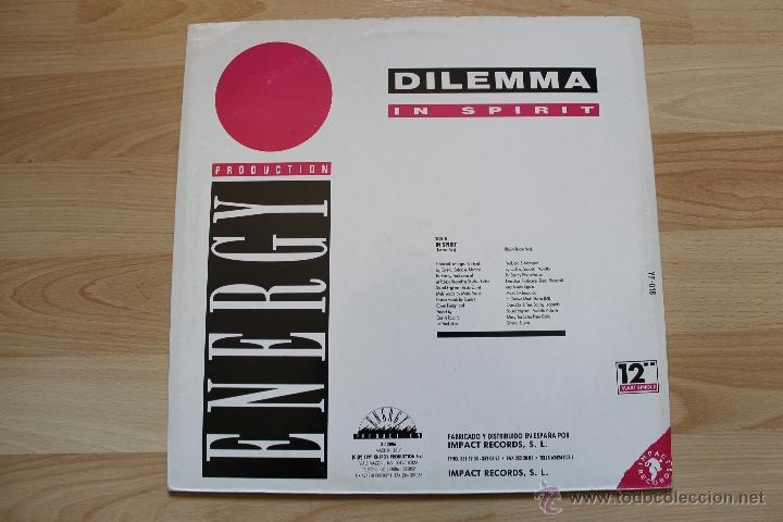 Discos de vinilo: DILEMMA IN SPIRIT MAXISINGLE 12 VINILO EDICION ESPAÑOLA - Foto 3 - 41635286