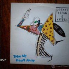 Discos de vinilo: JOHNNY CLEGG & SAVUKA - TAKE MY HEART AWAY + SCATTERLINGS OF AFRICA . Lote 41637481