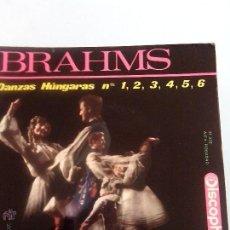Discos de vinilo: DANZAS HUNGARAS BRAHMS: 1-6. 33 1/3 RPM. DISCOPHON 1964. Lote 41641171