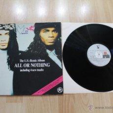 Discos de vinilo: MILLI VANILLI THE U.S.-REMIX ALBUM ALL OR NOTHING LP VINILO ARIOLA 5C 209979. Lote 41651960