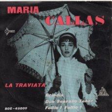 Discos de vinilo: MARIA CALLAS, EP, LA TRAVIATA + 3, AÑO 1960. Lote 41660322