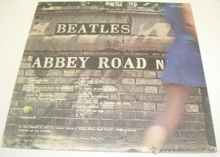 Discos de vinilo: BEATLES LP ABBEY ROAD APPLE RECORDS 1969 con títulos en castellano - Foto 2 - 41662090