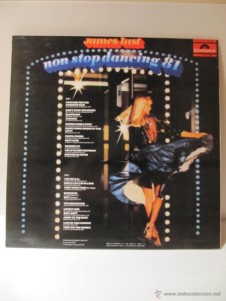 Discos de vinilo: VINILO JAMES LAST. NON STOP DANCING 81. POLYDOR 1981 - Foto 2 - 41666839