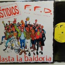 Disques de vinyle: LOS FASTIDIOS/ F.F.D.- HASTA LA BALDORIA- ITALIAN OI!/ PUNK LP 1996 + ENCARTE- EX/EX.. Lote 41669814