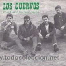 Discos de vinilo: LOS CUERVOS RARO COMO UN PERRO VERDE/NOCHE SIN LUNA (DIS.MEDICINALES 1988). Lote 41671192